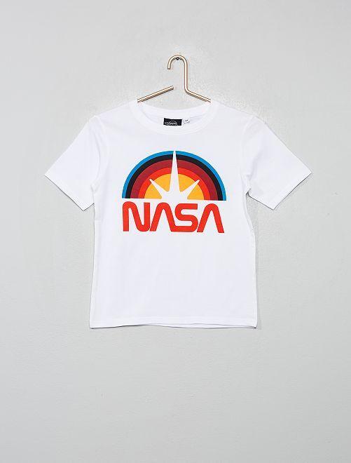 T-shirt 'Nasa'                             blanc