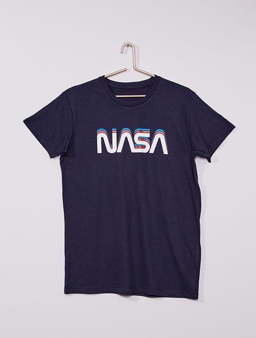 T-shirt 'NASA'                             bleu navy