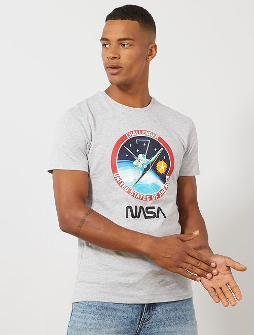 T-shirt 'NASA' Challenger                             gris chiné Homme