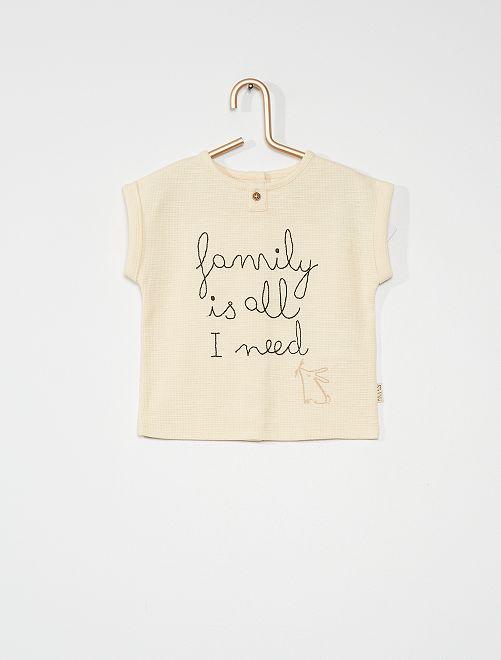 T-shirt nid d'abeille                                         gris