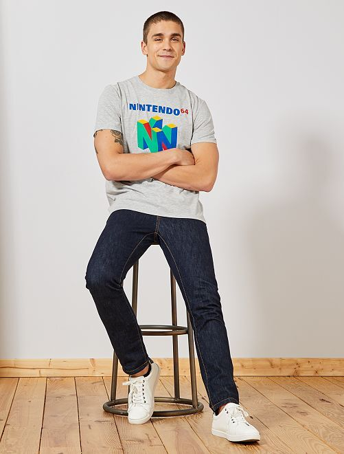 T-shirt 'Nintendo 64'                                         gris chiné Nintendo 64 Homme