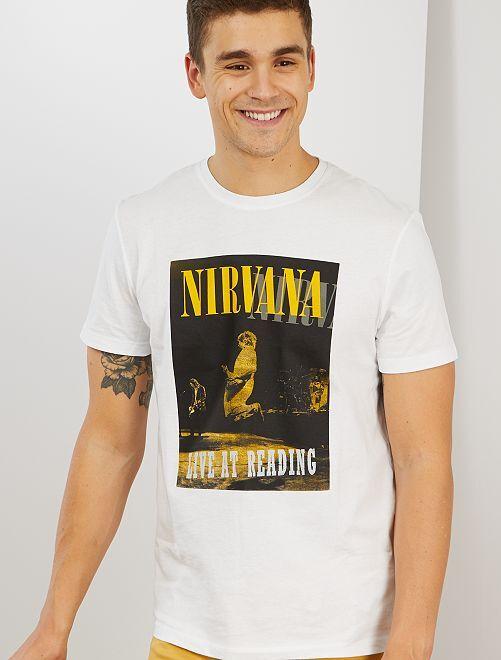 T-shirt 'Nirvana'                             blanc