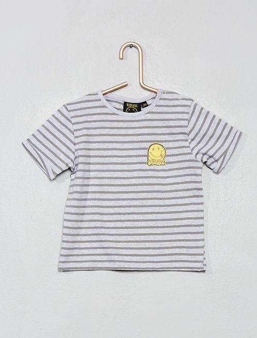 T-shirt 'Nirvana'                             gris chiné