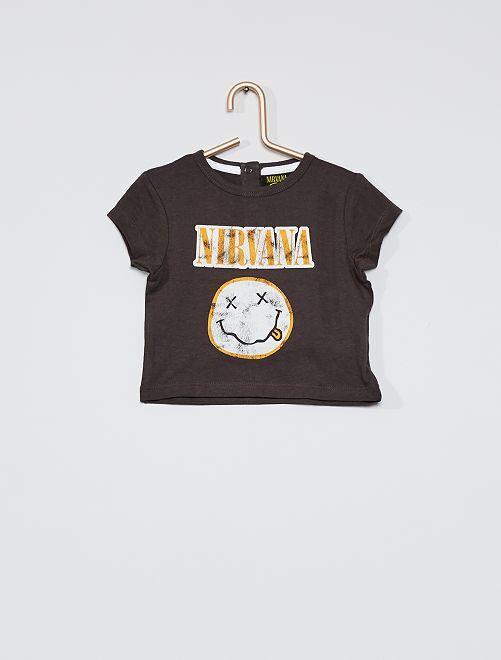 T-shirt 'Nirvana'                             gris foncé