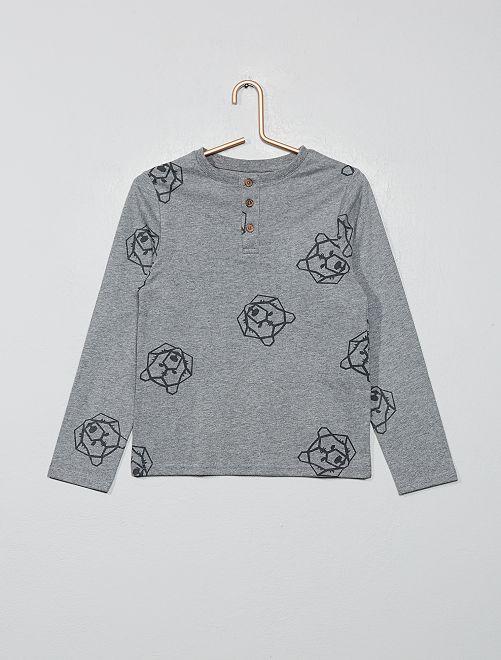 T-shirt ours origami 'éco-conception'                                                                 gris