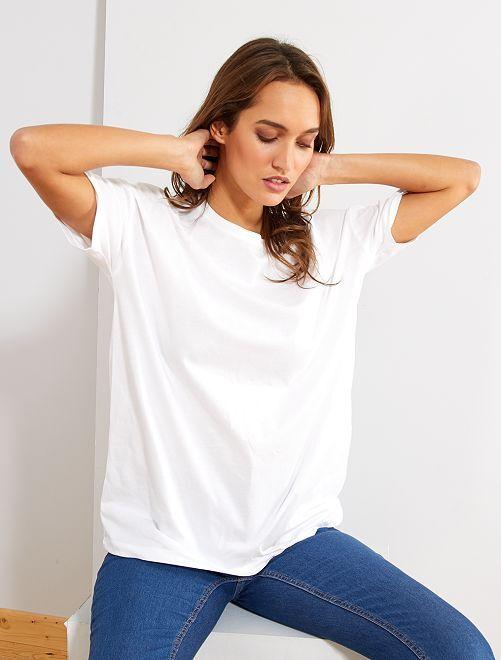 T-shirt oversize 'éco-conception'                                                                                                                                                                 blanc