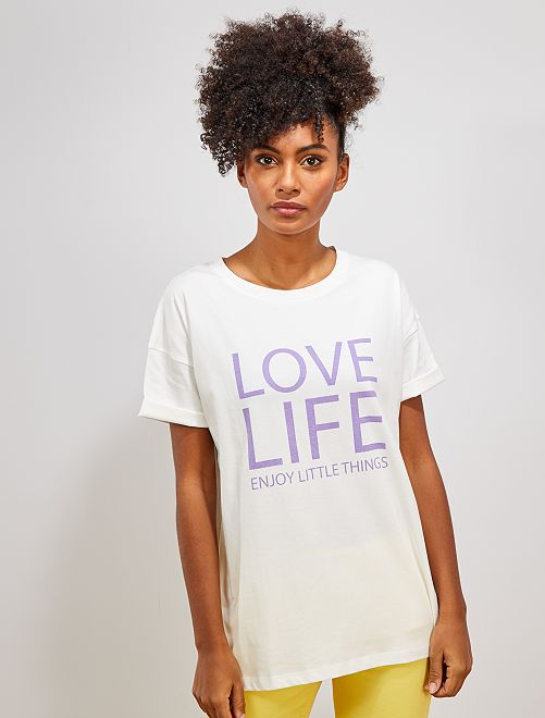T-shirt oversize 'éco-conception'                                                                                                                                                                 blanc