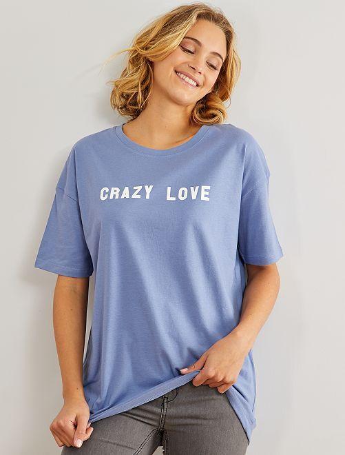 T-shirt oversize 'éco-conception'                                                                                                                                                                             bleu