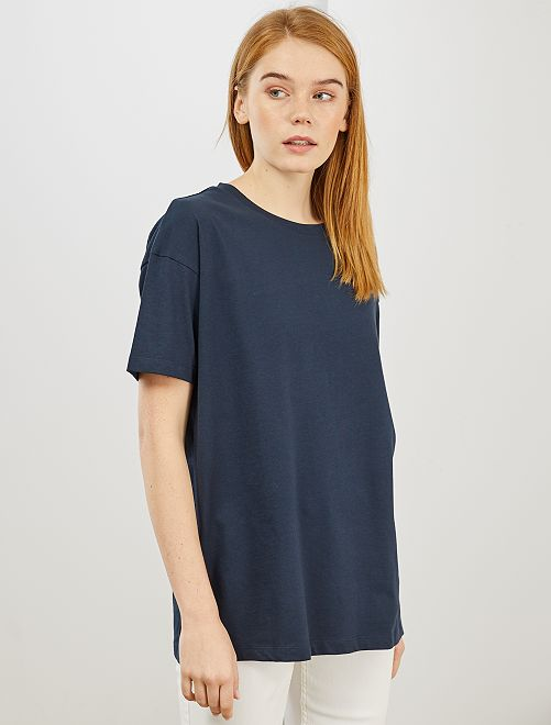 T-shirt oversize 'éco-conception'                                                                     bleu marine