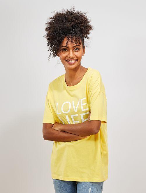 T-shirt oversize 'éco-conception'                                                                                                                                                                             jaune