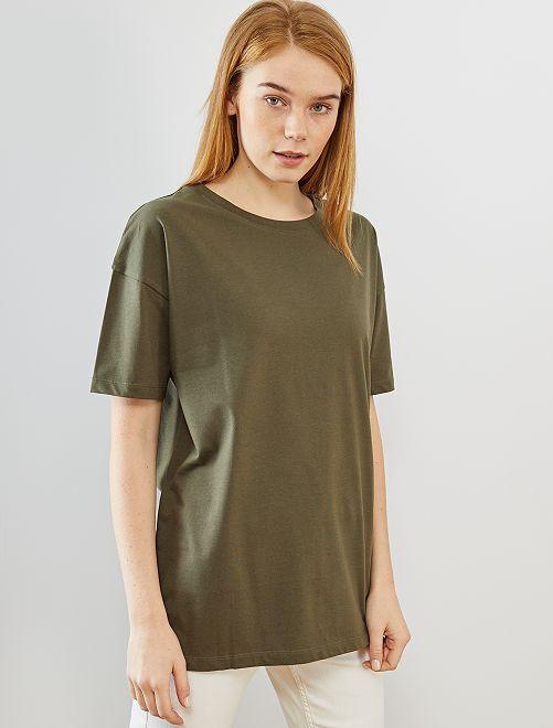 T-shirt oversize 'éco-conception'                                                                                         kaki