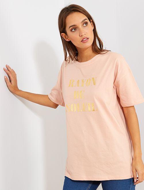 T-shirt oversize 'éco-conception'                                                                                                                                                                 rose pâle