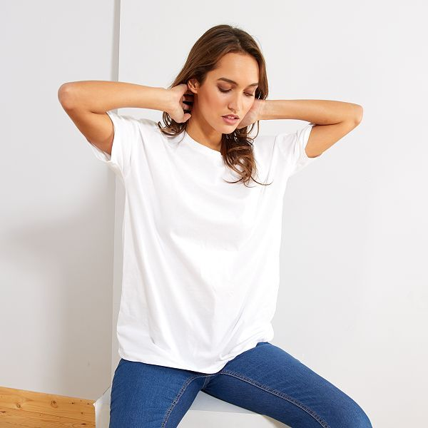 T-shirt oversize éco-conçu Femme - Kiabi