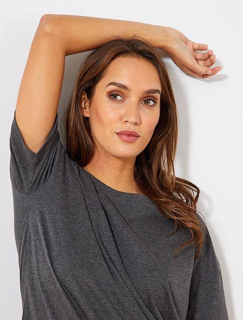 T-shirt oversize éco-conçu                                                                                                         gris