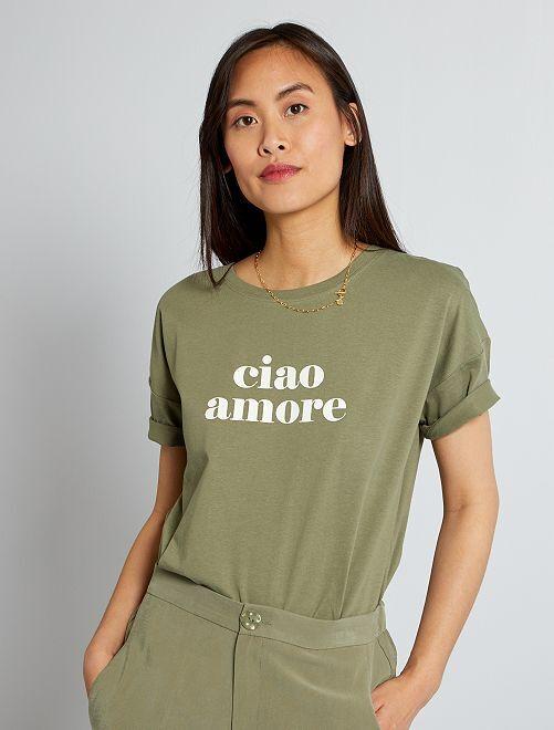 T-shirt oversize imprimé                                                                 vert