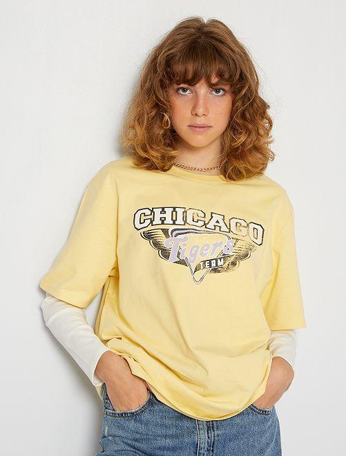 T-shirt oversize                                                                 jaune