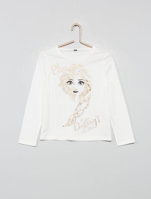 T-shirt pailleté 'Reine des Neiges'                                                     blanc / reine des neiges