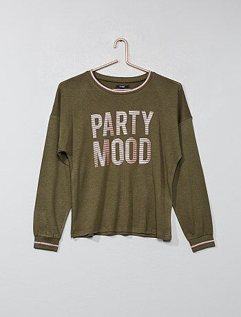 Fille 10-18 ans - T-shirt 'party mood' - Kiabi