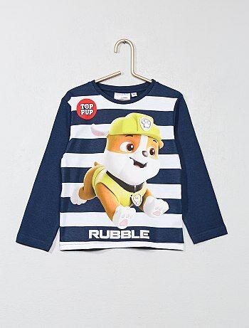 Un super t-shirt avec la patrouille la plus drôle en effigie ! - T-shirt 'Pat' Patrouille' - Col rond - Manches courtes - Imprimé 'Pat' Patrouille' à l'avant