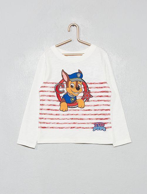 T-shirt 'Pat' Patrouille'                                         rayé rouge