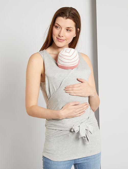 T-shirt peau à peau éco-conçu                                         gris chiné