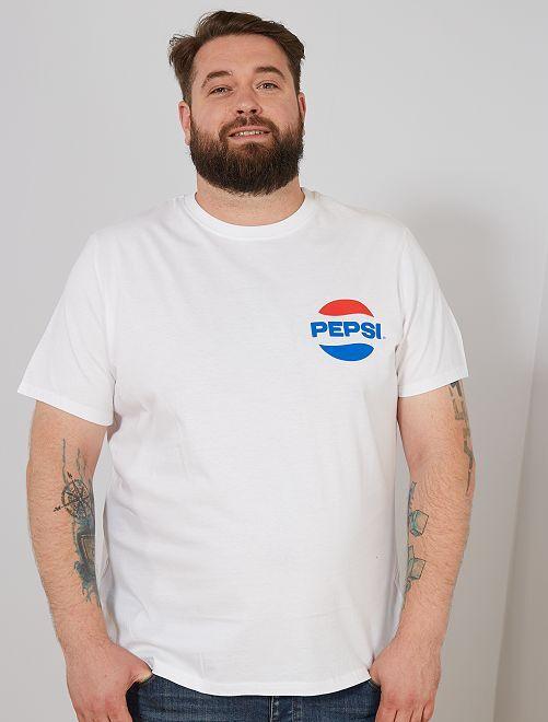 T-shirt 'Pepsi'                             blanc