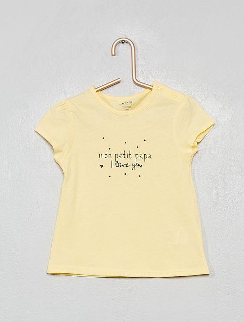 T-shirt 'petit papa'                                                                             jaune/papa