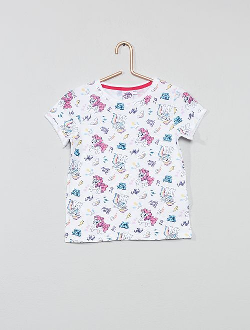 T-shirt 'Petit Poney'                             blanc Fille
