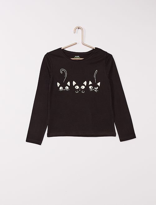 T-shirt phosphorescent 'éco-conçu'                             noir 3