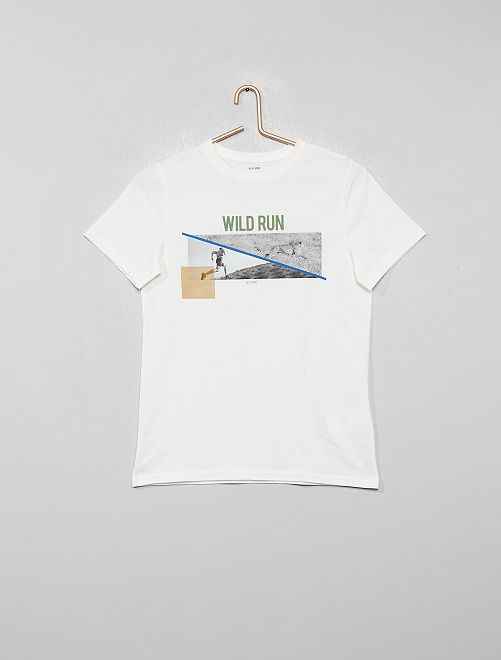 T-shirt photoprint                     blanc