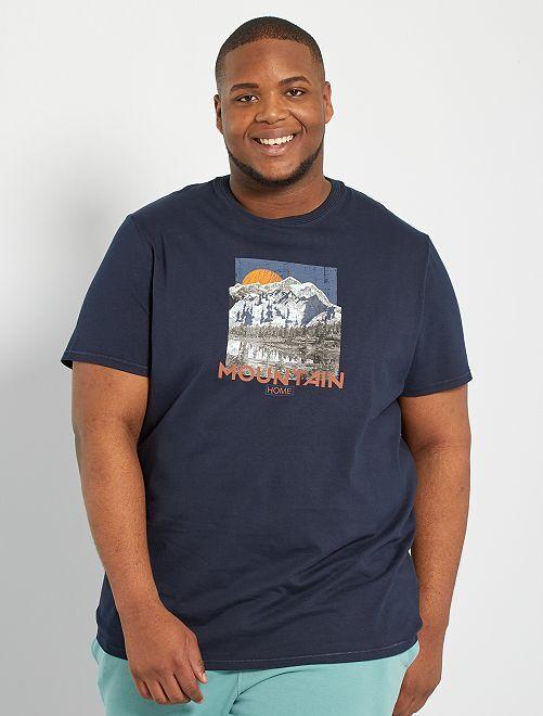 T-shirt photoprint                                                                 BLEU