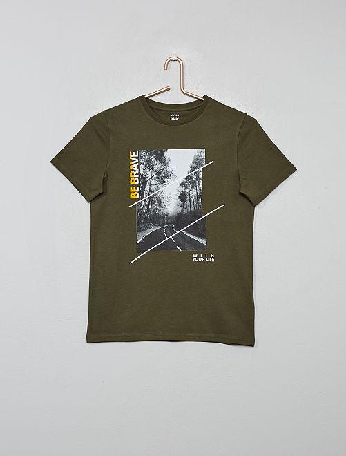 T-shirt photoprint                             kaki