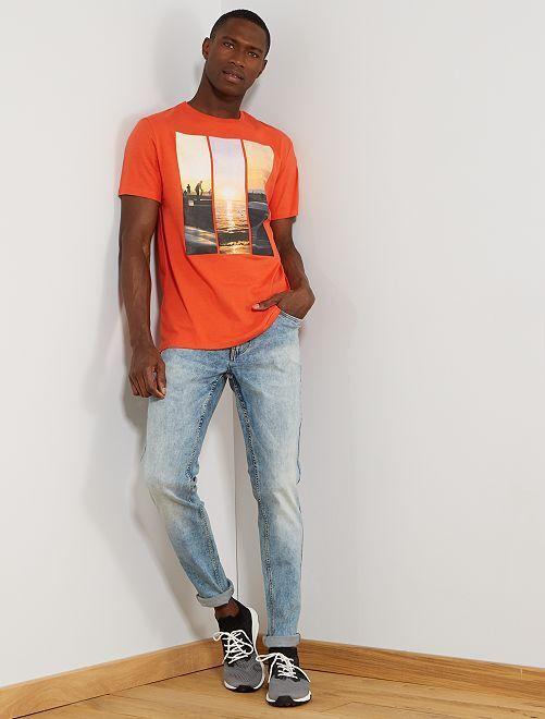 T-shirt photoprint summer                                                                             corail