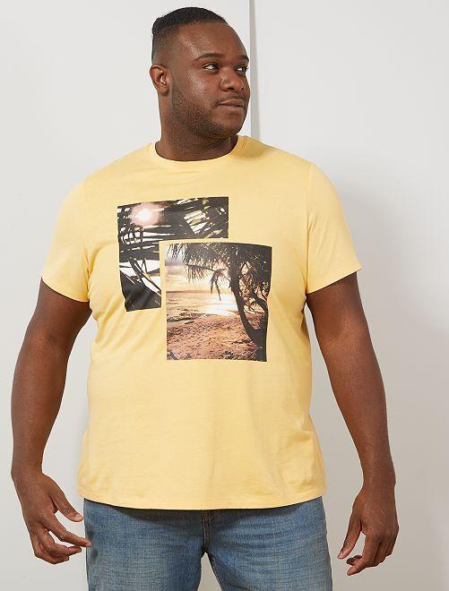 T-shirt photoprint summer                                                     jaune