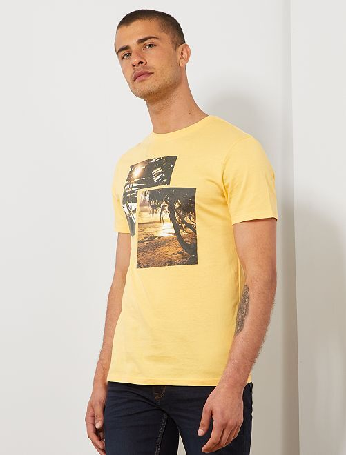 T-shirt photoprint summer                                                                             jaune Homme