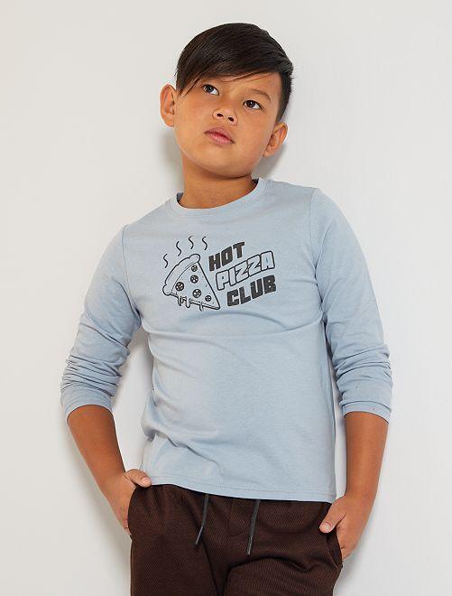 T-shirt 'pizza'                                                                                                     bleu