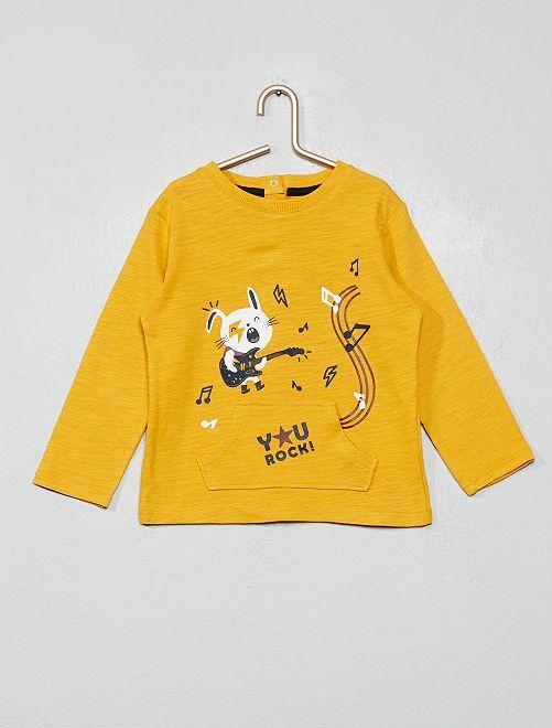 T-shirt poche kangourou                                                     jaune Bébé garçon