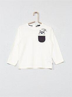 Garçon 0-36 mois - T-shirt poche poitrine animée - Kiabi