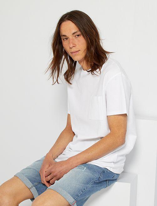 T-shirt poche poitrine                                         blanc