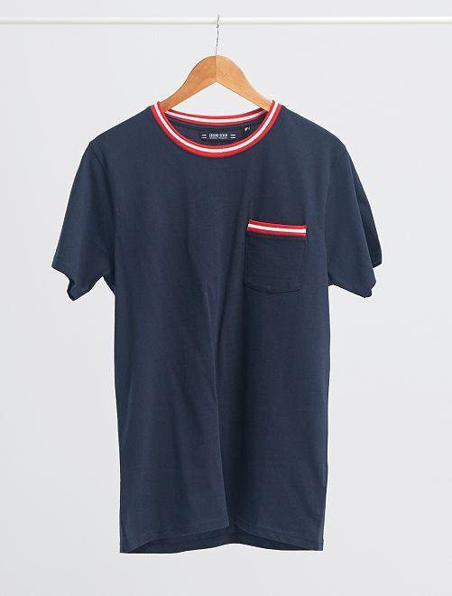 T-shirt poche poitrine                                                     bleu marine