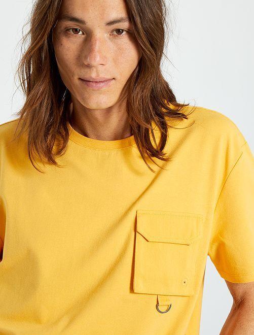 T-shirt poche poitrine                                                                             jaune
