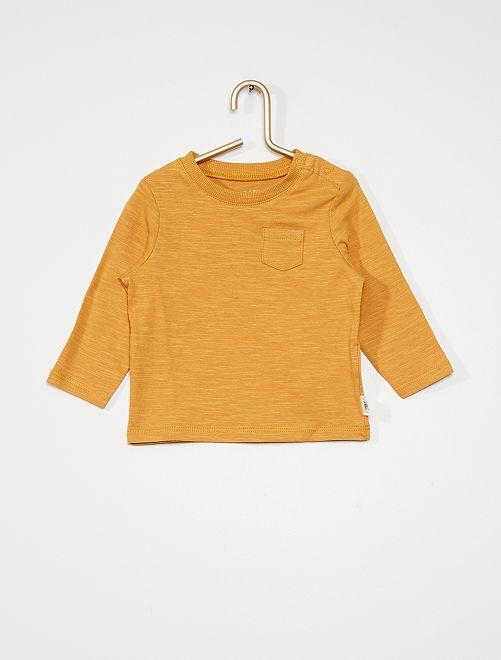 T-shirt poche poitrine                                                     jaune ocre