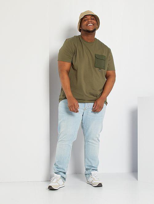 T-shirt poche poitrine                                         kaki