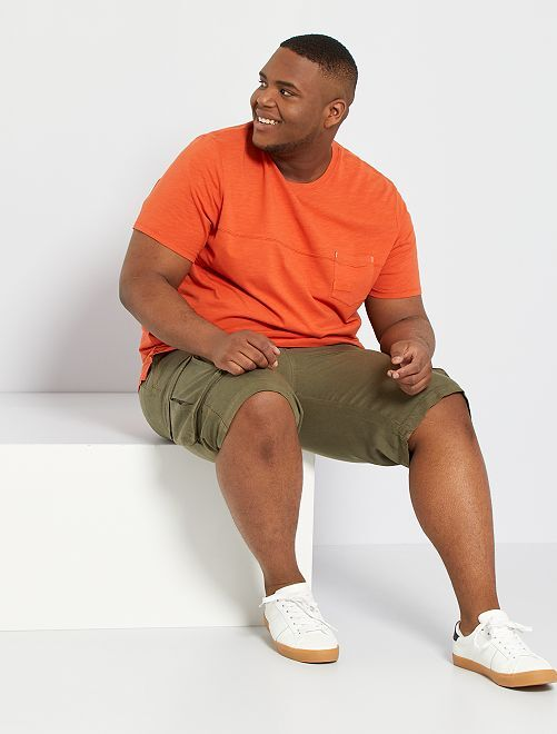 T-shirt poche poitrine                                         orange