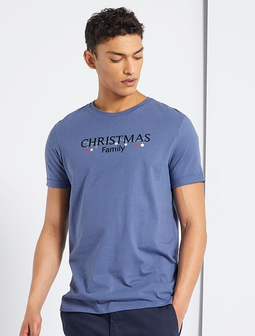 T-shirt + pochon 'Noël'                                                                 bleu