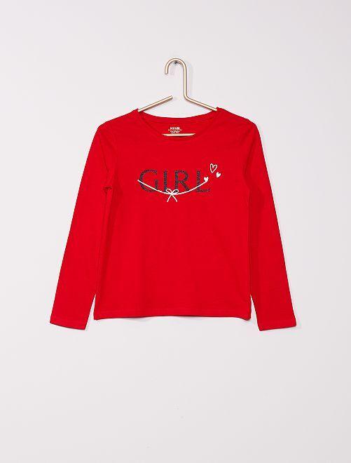 T-shirt + pochon 'Noël' éco-conçu                                                     rouge