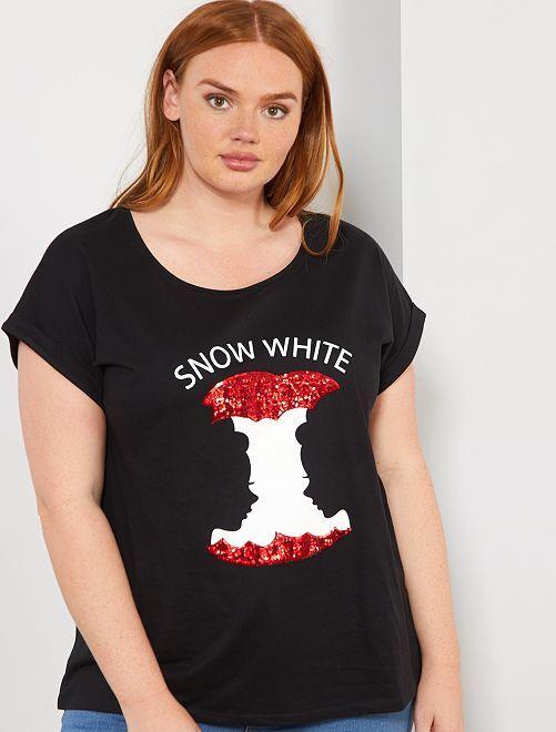 T-shirt 'Pomme'                                                                                                                                                                                                                             noir/pomme