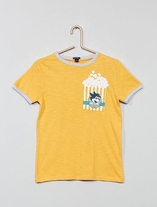 T-shirt 'Pop Corn'                                         jaune
