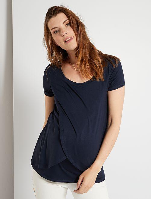 T-shirt pour allaitement                                         bleu marine