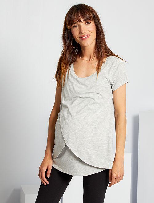 T-shirt pour allaitement                                         gris